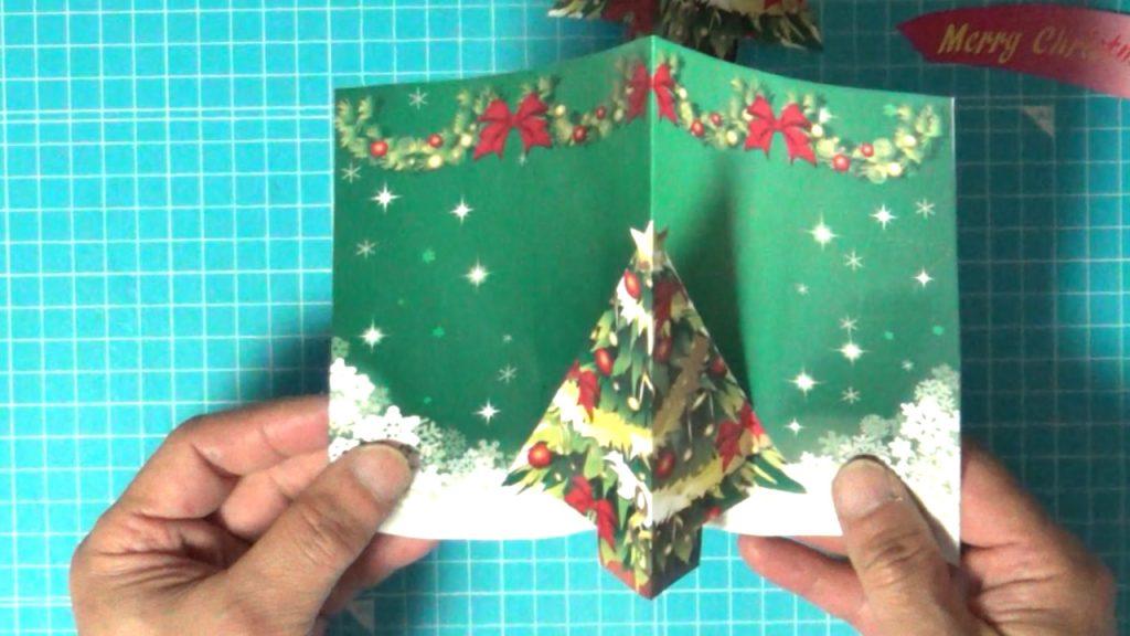 クリスマスツリーを貼った状態