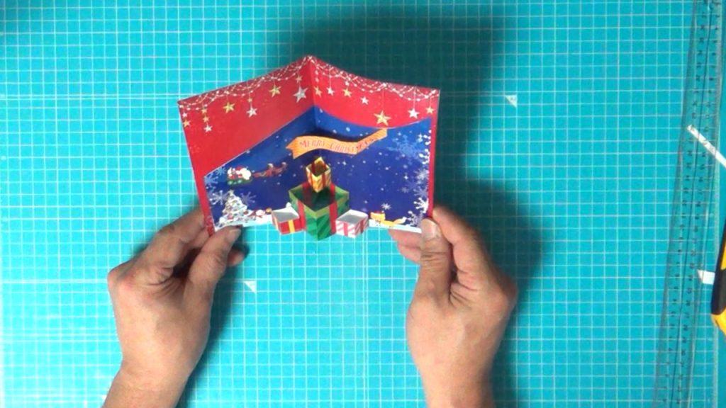 クリスマスカードの完成